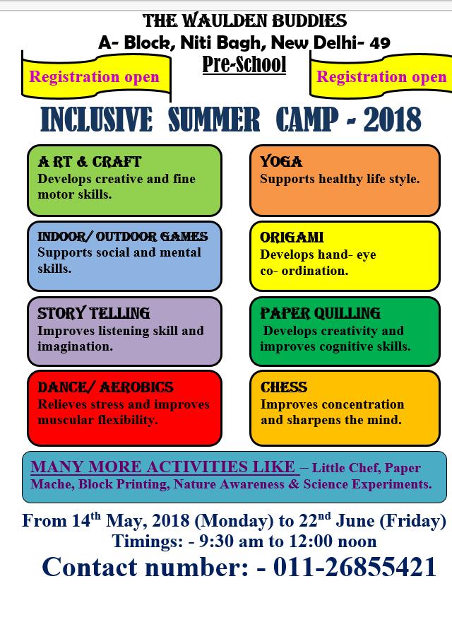 inclusive summer camp-2018